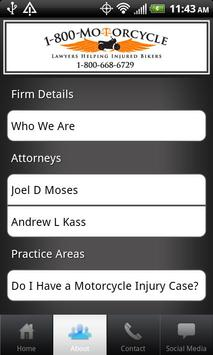 Motorcycle Accident Lawyer apk screenshot