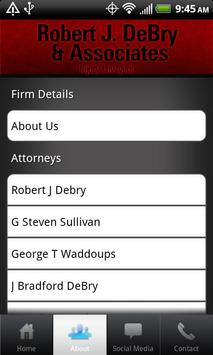 Robert J. DeBry-Injury Lawyers apk screenshot