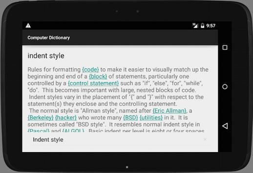 Computer Dictionary apk screenshot