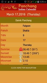 English Calmanac Panchang apk screenshot