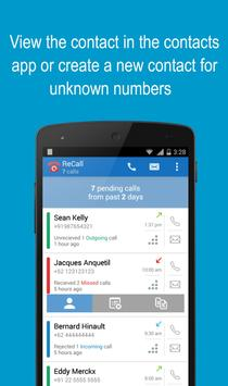 ReCall - Missed Call Tracker apk screenshot