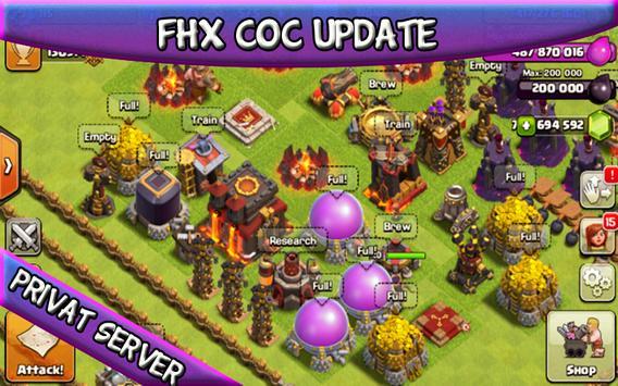 FHX COC New Server apk screenshot