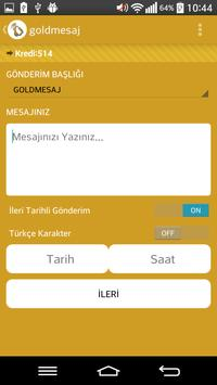 GoldMesaj - Toplu Sms apk screenshot