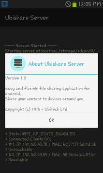 Ubishare Server apk screenshot