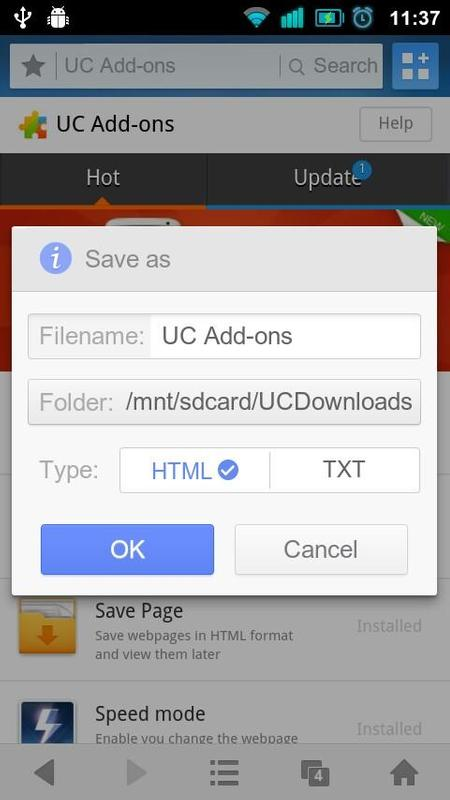 Add On Uc Browser Save Page