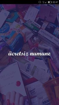 Ücretsiz Numune poster