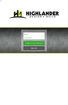 Highlander Design + Build apk screenshot