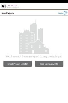Mentor Project Management apk screenshot