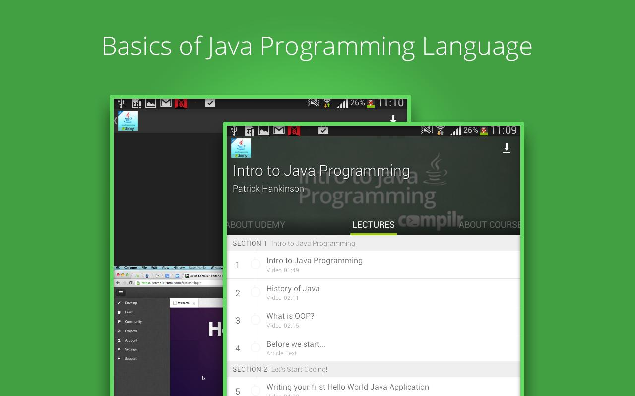 beginners java programming apk education app for beginners java programming apk screenshot