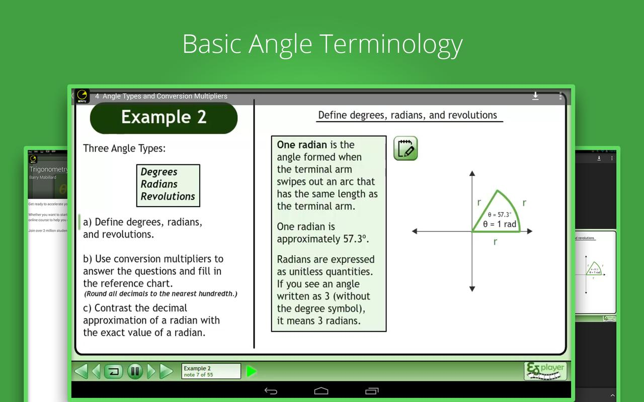 learn trigonometry apk education app for android learn trigonometry apk screenshot