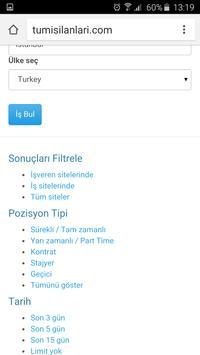 Türkiye'deki Tüm İş İlanları apk screenshot