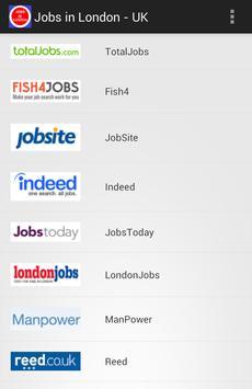 Jobs in London - UK Jobs poster