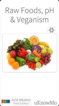 Raw Foods, pH and Vegan Diet poster