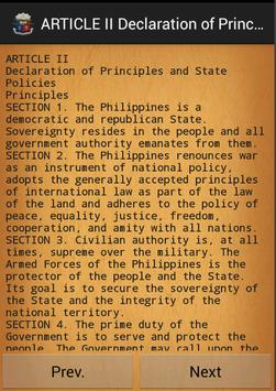 Philippines constitution apk screenshot