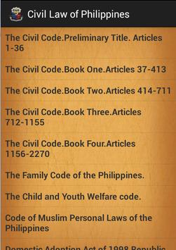 Civil law of Philippines poster