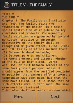 Civil law of Philippines apk screenshot
