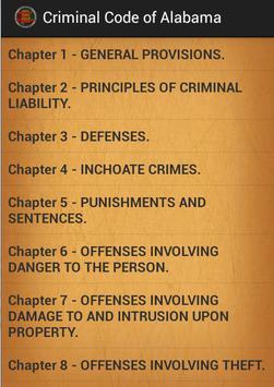 Criminal code of Alabama poster