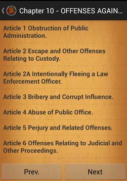 Criminal code of Alabama apk screenshot