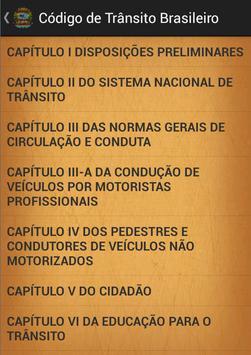Código de transito Brasileiro poster