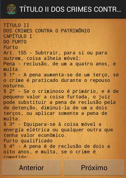 Codigo Penal Brasileiro apk screenshot