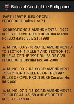 Philippines Rules of Court apk screenshot