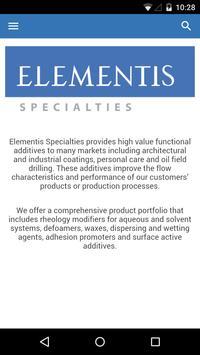 Elementis Specialties apk screenshot