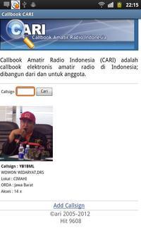 Callbook Cari poster