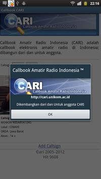 Callbook Cari apk screenshot