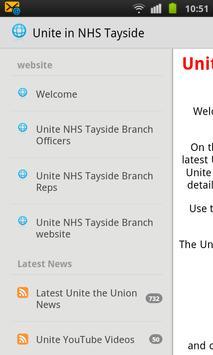 Unite in NHS Tayside poster