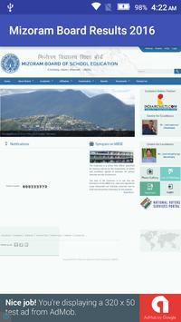 Mizoram Board Results 2016 apk screenshot