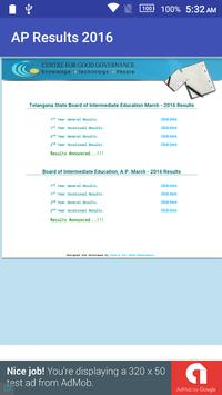 AP Board Results 2016 apk screenshot