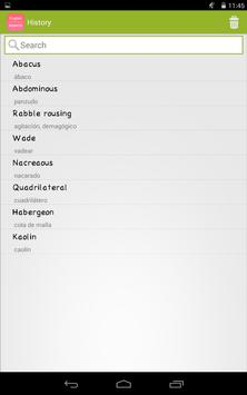 English To Spanish Dictionary apk screenshot