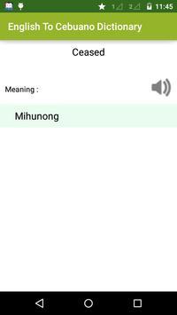 English to Cebuano Dictionary apk screenshot