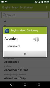 Maori Dictionary apk screenshot