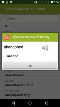 English to Malagasy Dictionary apk screenshot