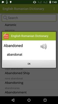 English to Romanian Dictionary apk screenshot