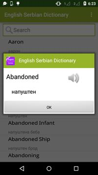 English to Serbian Dictionary apk screenshot