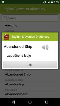 English Slovenian Dictionary apk screenshot