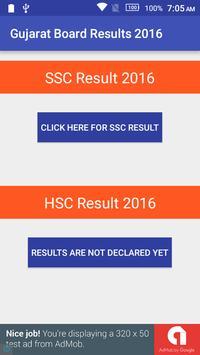 Gujarat Board Results 2016 poster