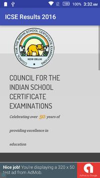 ICSE Board Results 2016 apk screenshot