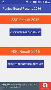 Punjab Board Results 2016 poster
