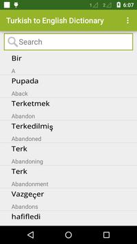 Turkish To English Dictionary apk screenshot