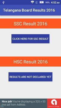 Telangana Board Results 2016 apk screenshot