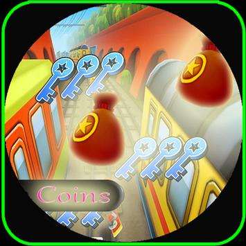 Cheats coins for Subway Surfer poster