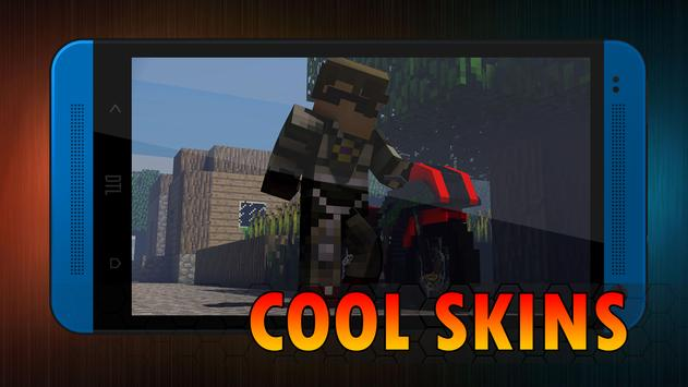 Cool skins for minecraft poster