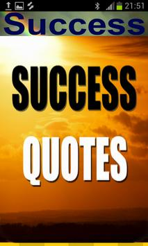 Success Quotes Free poster