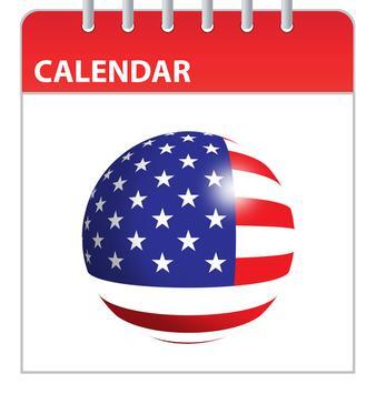 USA Holidays Calender poster