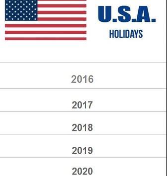 USA Holidays Calender apk screenshot
