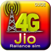Guide Jio Reliance 4G Simcard icon