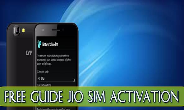 Guide Jio Reliance 4G Simcard poster